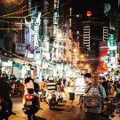 Arrival and explore Saigon after dark
